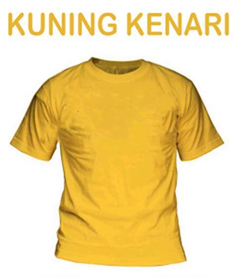 Kaos Polos Lengan Panjang Warna Kuning Kenari Ukuran M Dm jasa kaos print dtg murah warna kaos