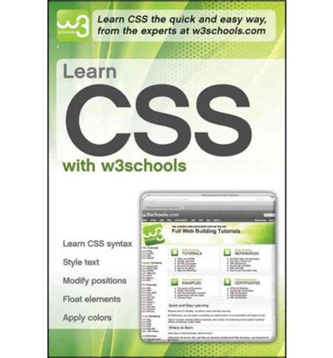 layout in css w3schools learn css with w3schools w3schools 9780470611920