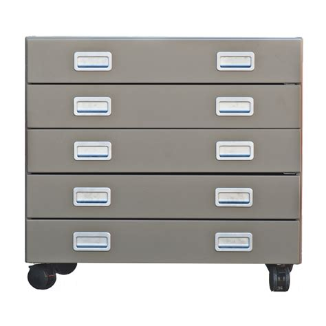 vintage design within reach 5 drawer rolling file cabinet