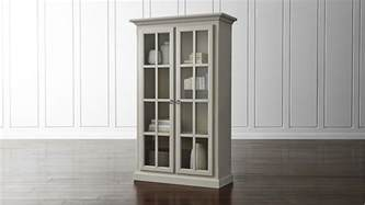 schrank vitrine vitrine cabinet crate and barrel