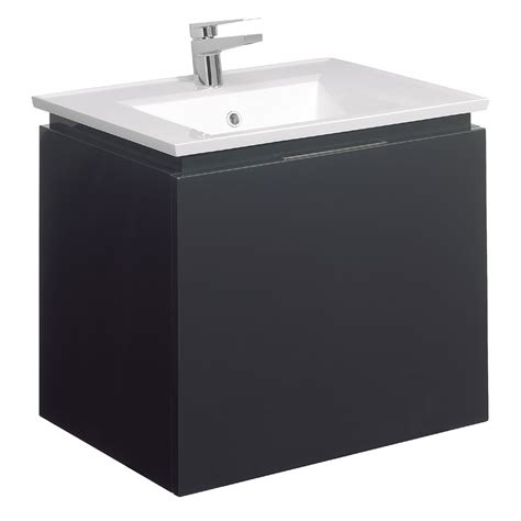 Square Basin Vanity Unit by Bauhaus Linea Wall Hung Vanity Unit With Square Basin