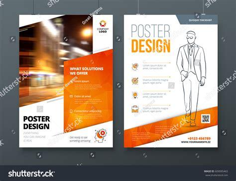 design poster a3 poster design a3 a2 a1 orange stock vector 609095465