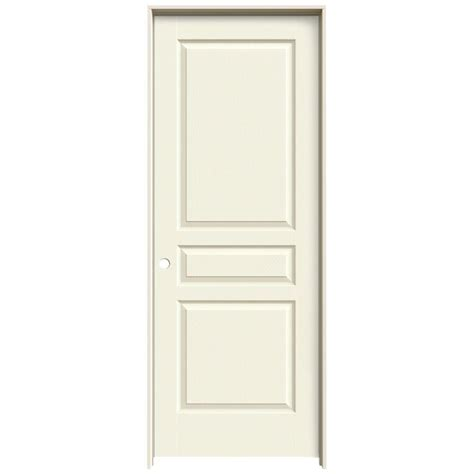 70 Inch Closet Doors Jeld Wen 32 In X 80 In Avalon Vanilla Painted Right Textured Hollow Molded Composite