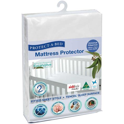 What Is A Mattress Protector by Tencel Cot Mattress Protector Waterproof