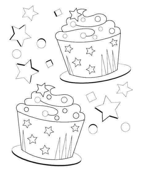birthday cupcake coloring page free coloring pages of birthday cupcake