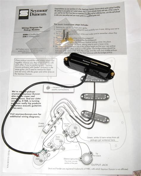 svr 1n vintage rails neck seymour duncan audiofanzine
