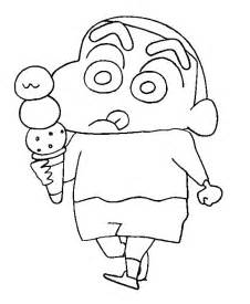 shin chan colouring pages 2