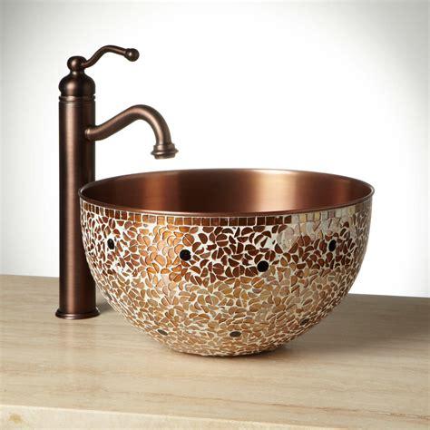Vessel Sink by Valencia Mosaic Copper Vessel Sink Vessel Sinks