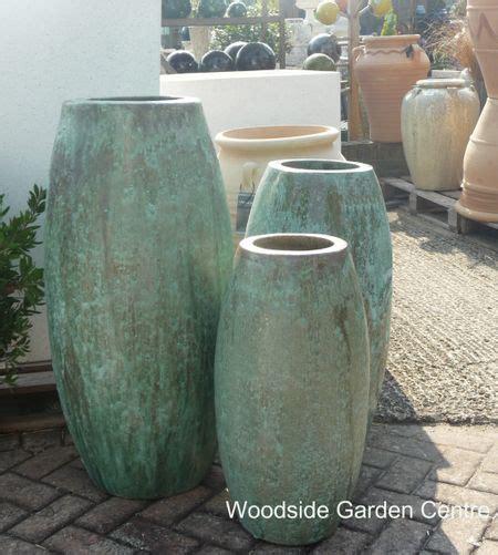 large glazed opal green toggle pot planter