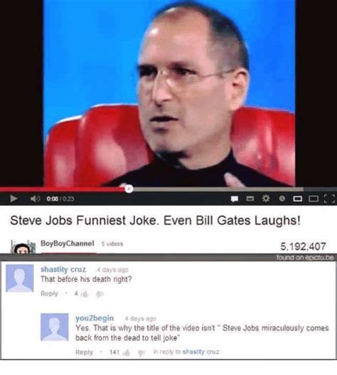 Steve Jobs And Bill Gates Meme - 25 best memes about miraculously miraculously memes