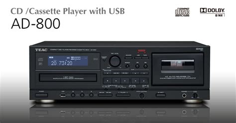 Cd Player With Cassette Deck by Teac Ad800 Ad 800 Ad 800 Cassette Deck Player And Cd