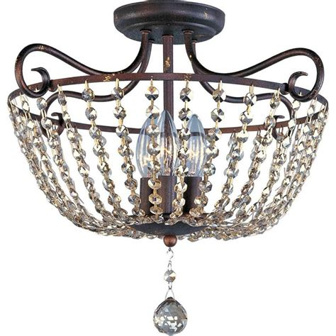 rustic semi flush mount lighting maxim lighting adriana 3 light urban rustic semi flush