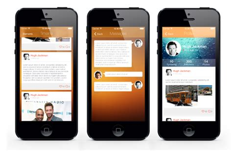highlights iphone and ios app ui design templates