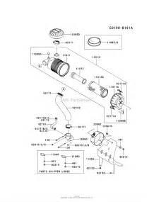 kawasaki fh641v bs33 4 stroke engine fh641v parts diagram for air filter muffler
