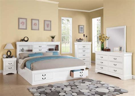 informa bedroom set louis philippe iii white bedroom set with storage