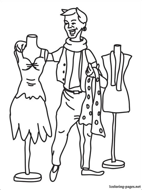 coloring pages fashion designer fashion designer coloring page coloring pages 6184