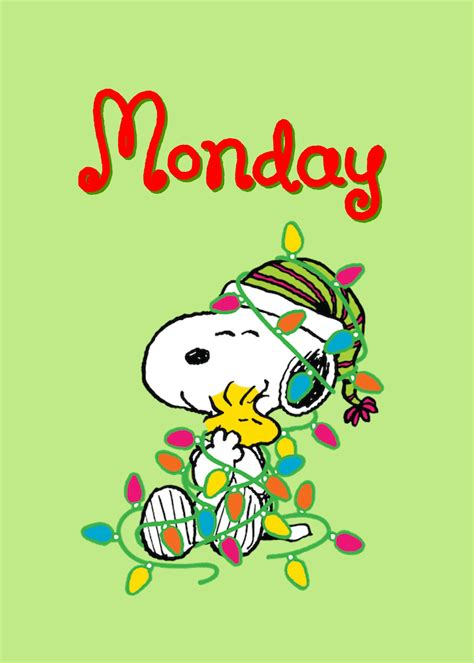 happy monday snoopy woodstock snoopy love charlie brown snoopy