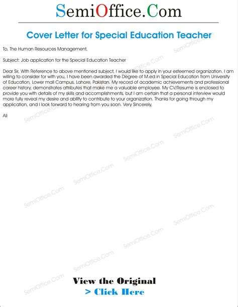 Cover Letter Special Education by Special Education Cover Letter Images Cover Letter Sle