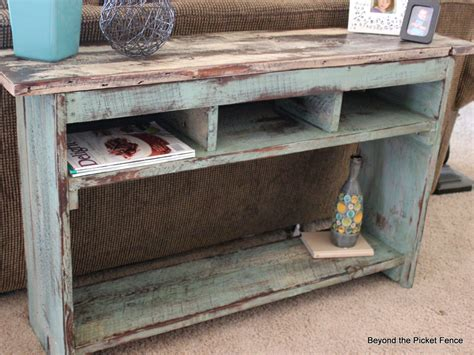 Beyond The Picket Fence From Barn To Sofa Table Barn Wood Sofa Table