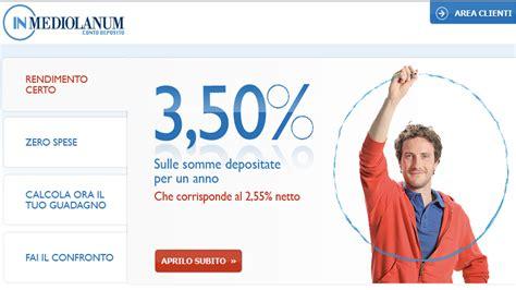 mediolanum conto deposito inmediolanum fino al 4 conto deposito inmediolanum partenza con il botto