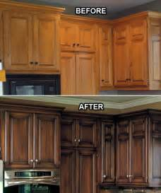 How to stain kitchen cabinets before and after modern kitchens