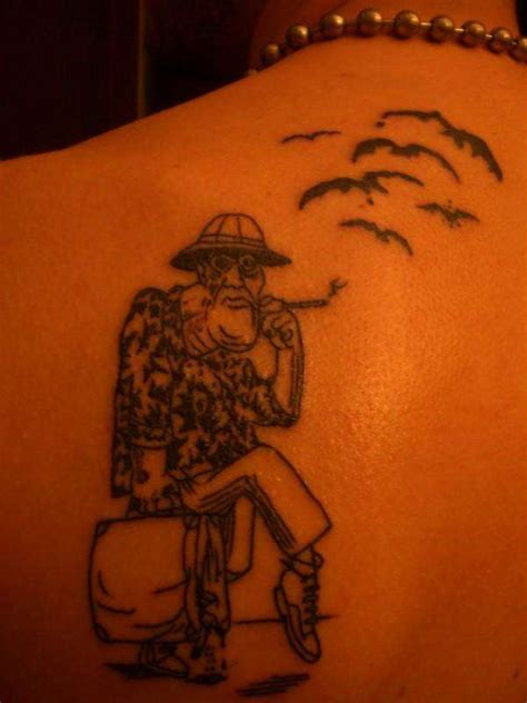 hunter s thompson tattoos s thompson