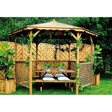 Maison Et Jardinage by Pavillon De Jardin Quot Lora Quot Avec Treillis Jardipolys