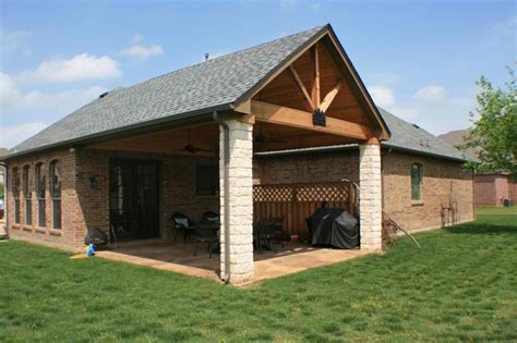 Wood Style Open Gable Patio Cover Plans : Grande Room