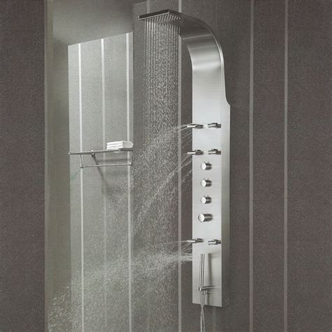stainless steel thermostatic shower panel modern