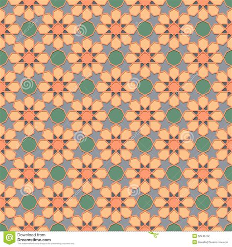 traditional islamic pattern vector traditional ornamental seamless islamic pattern stock