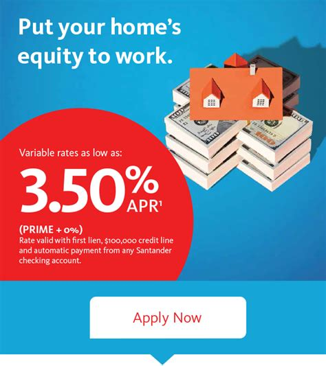 home equity line of credit santander