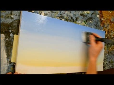 acrylic painting how to do it how to paint a sky acrylic painting lesson