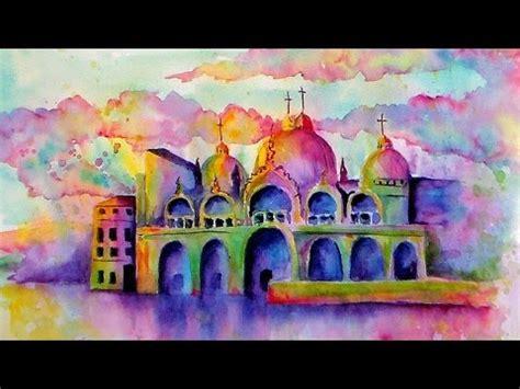 watercolor tutorial buildings live watercolor class loose buildings piazza san