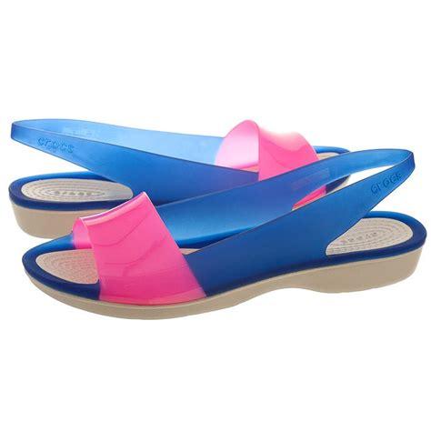 Crocs Colorblock Flat sanda蛯y crocs colorblock flat w cerulean blue stucco