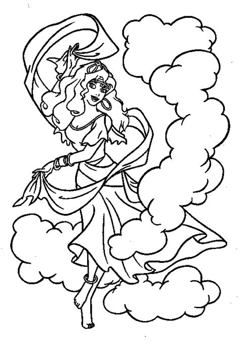 disney esmeralda coloring page coloring page the hunchback of the notre dame coloring