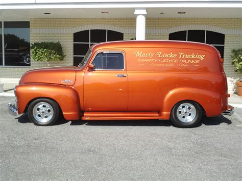 1954 chevrolet panel truck 3100 retro custom rod rods