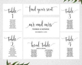 Wedding Seating Chart Template Instant Download Editable Find Your Seat Template