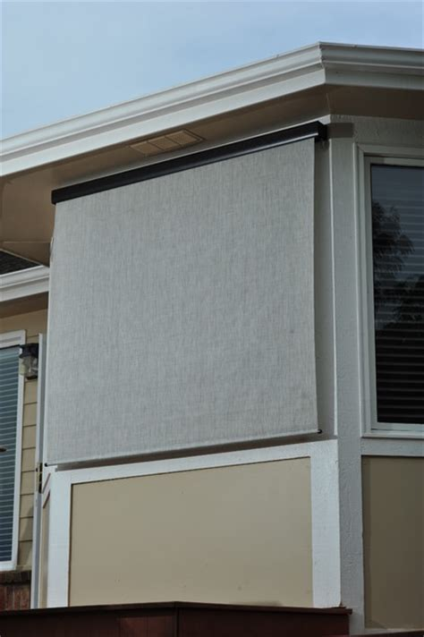 Exterior Roller Shades Exterior Solar Screen Shades With Crank Modern