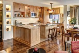 Kitchen Remodel Ideas With Oak Cabinets Large Brown Kitchen Designs With Oak Cabinets Mixed Counter Table Homes Showcase