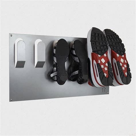 wall mount shoe storage stylish wall mounted shoe rack by the metal house limited