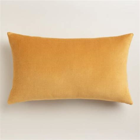 Gold Velvet Pillow gold velvet lumbar pillow world market