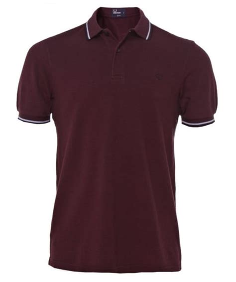 Fred Perry Slim Low fred perry mahogany slim fit tipped polo shirt