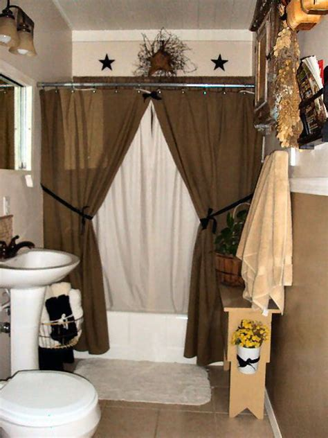 primitive bathroom ideas country bathroom decor like the decor above the shower