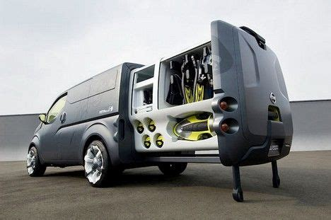 nissan's new mobile office just perfect for treehuggers