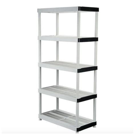 garage warehouse plastic wall storage shelving shelves