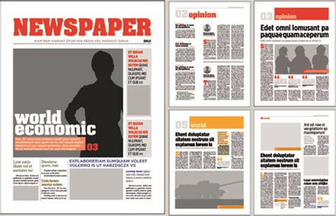 Newspaper Template Ai newspaper vector free vector 152 free vector