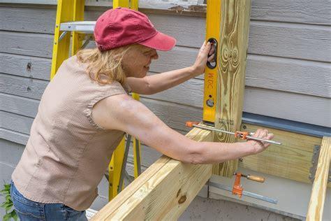how to install a l post decks com deck rail post attachment