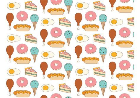 Food Background Pattern   Download Free Vector Art, Stock