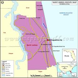 map of st johns county florida buy st johns county map