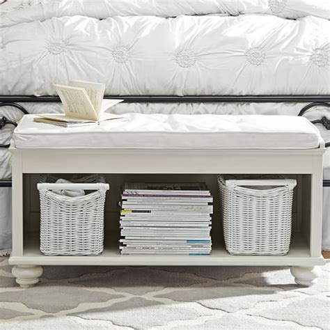white end of bed bench end of bed bench decorative bed foot space filler homesfeed
